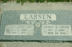 Cora Emma <I>Pendleton</I> Larsen