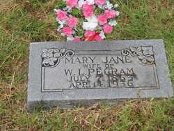 Mary Jane <I>Whitmire</I> Pegram