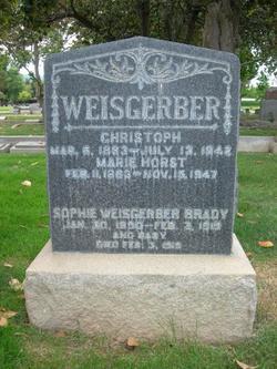 Sophie <I>Weisgerber</I> Brady