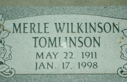 Merle <I>Wilkinson</I> Tomlinson