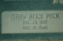 Mary Alice <I>Peck</I> Wilkinson