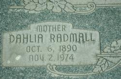 Dahlia Albertina <I>Radmall</I> Walker
