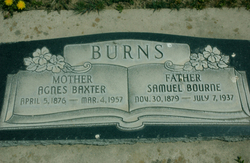 Agnes <I>Baxter</I> Burns