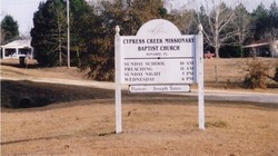 Cypress Creek Missionary Baptist Church Cemetery
