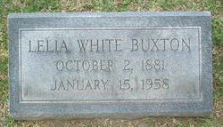 Lelia Virginia <I>White</I> Buxton
