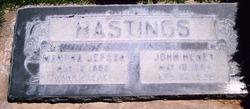 """Martha """"Isom"""" <I>Jepson</I> Hastings"""
