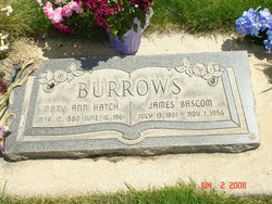 Mary Ann <I>Hatch</I> Burrows