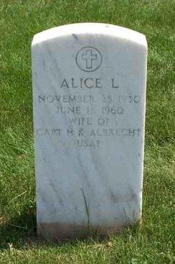 Alice L Albrecht