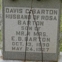 Davis Clingman Barton, Sr
