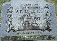 Sophia <I>Keitle</I> Barton