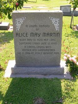 Alice May <I>Dennis</I> Martin