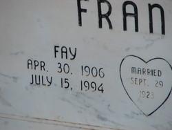 Fay Eula <I>Underwood</I> Franks