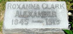 Roxanna <I>Clark</I> Alexander