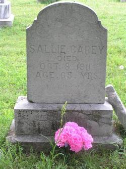 Sallie <I>Jones</I> Carey