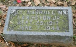 2LT Carroll Napier Langston, Jr