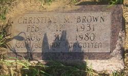 Christine M. Brown