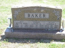 Betty Ann <I>Dean</I> Baker