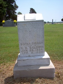 Sopha <I>Bigham</I> Baldwin
