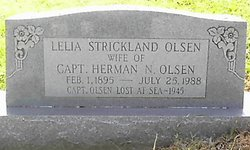 Lelia May <I>Strickland</I> Olsen