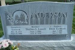 Thelma Levern <I>Lovell</I> Anderson