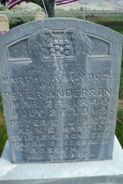 Martha Ann <I>Lovell</I> Anderson