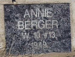 Annie <I>Fried</I> Berger
