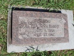 Boletta Ann Baker