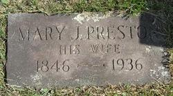 Mary J <I>Preston</I> Avery