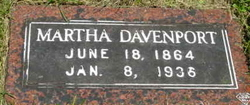 Martha Ann <I>Davenport</I> Davenport
