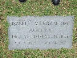 Isabelle <I>Milroy</I> Moore