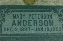 Mary <I>Peterson</I> Anderson