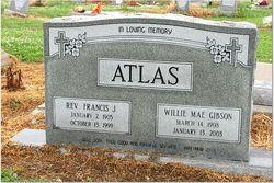 """Rev Francis Joseph """"Bud"""" Atlas, Sr"""