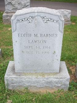 Edith Marie <I>Barnes</I> Lawson