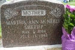 Martha Ann <I>Mcneely</I> Sheriff