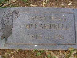 "Sarah Bernice ""Dolly"" <I>Biggs</I> McCampbell"