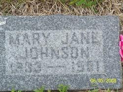 Mary Jane <I>Tidwell</I> Johnson