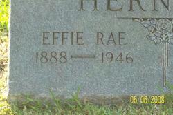 Effie Rae <I>Lloyd</I> Herndon