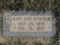 Mary Jane <I>McNeil</I> Kirkham