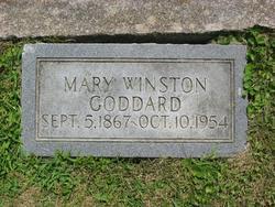 Mary Winston <I>Ellis</I> Goddard