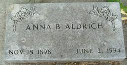 Anna B. <I>Nider</I> Aldrich