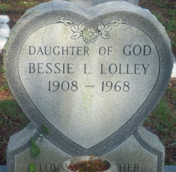 Bessie Lee <I>Lolley</I> Hand