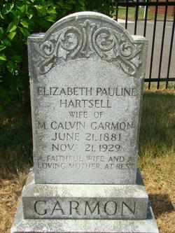 Elizabeth Pauline <I>Hartsell</I> Garmon