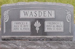 Frances Elizabeth <I>Robins</I> Wasden