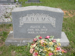 Alice A <I>Chelette</I> Adams