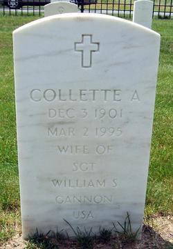 Collette A <I>Rowen</I> Gannon
