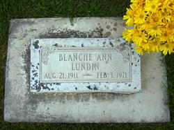 Blanche Ann <I>Albrecht</I> Lundin