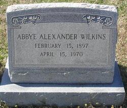 Abbye IAlexander I Wilkins