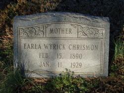 Earla <I>Wyrick</I> Chrismon