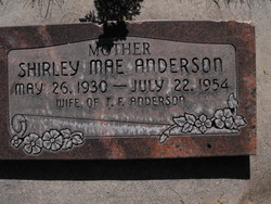 Shirley Mae <I>Greenwood</I> Anderson