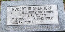 Lieut Robert W Shepherd